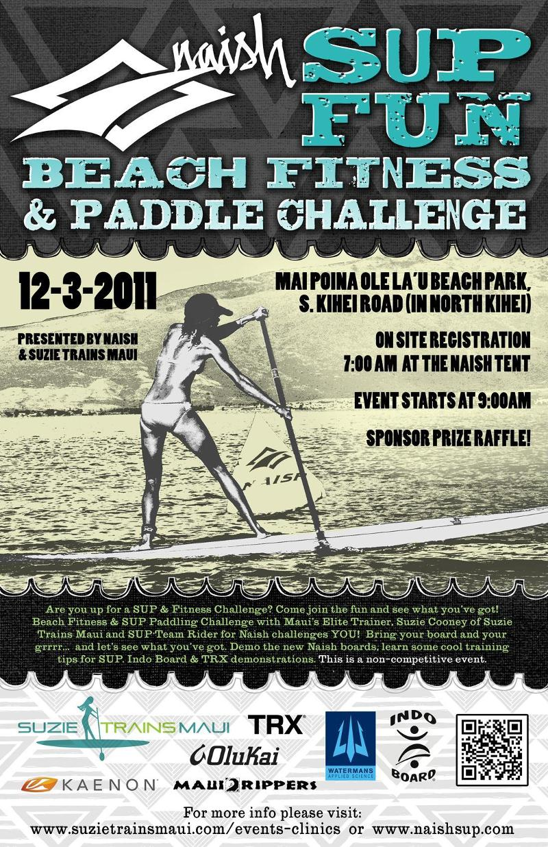 EVENT – NAISH SUP FUN – Beach Fitness & Paddle Challenge