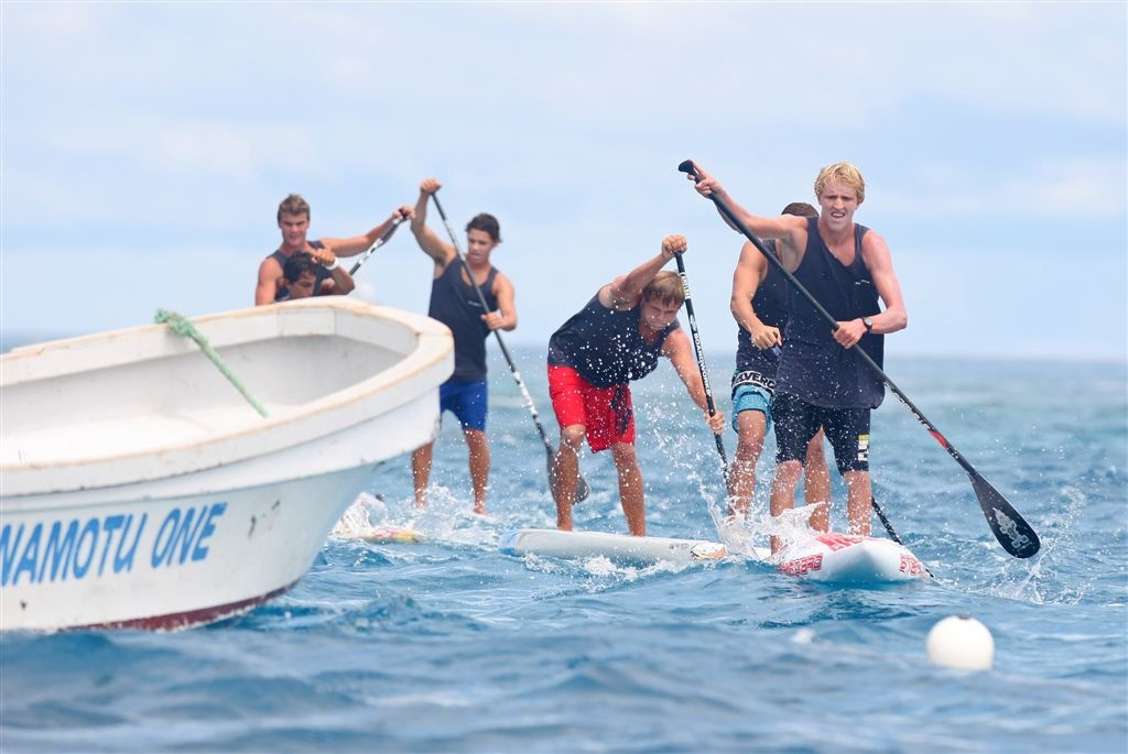 Connor Baxter wins Namotu World Paddle Challenge