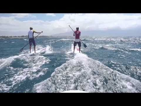 Connor Baxter SUP Downwind Run on Maui on the GoPro