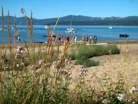 Chuck Patterson & Karen Wrenn teach a SUP Stand Up Paddle clinic at Adrift Tahoe