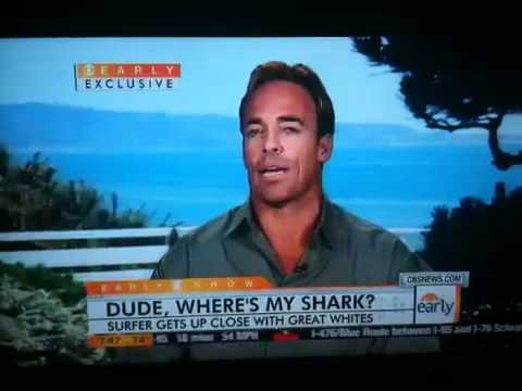 Chuck Patterson Interview & Go Pro Video Great White sharks circling off San Onofre
