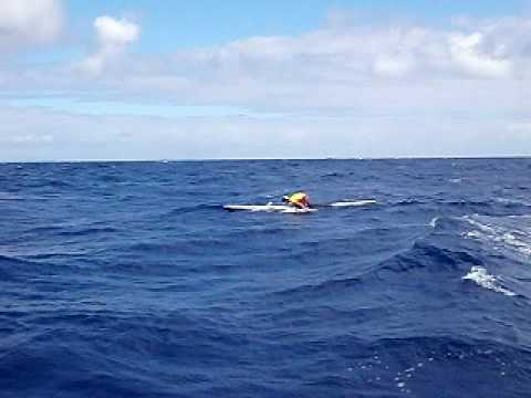 George Plesk at Molokai – gives us an idea how rough it was!