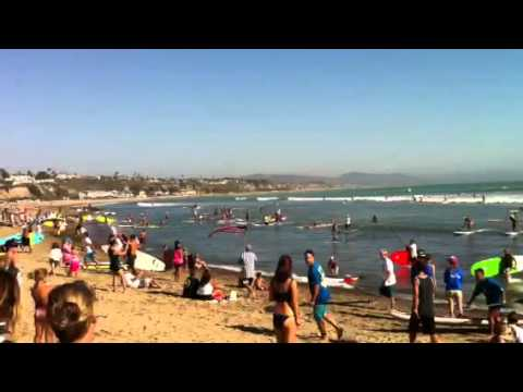 World Record Attempt Stand Up Paddlers on One Wave
