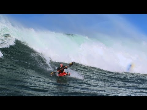 Big wave kayaking – Tao Berman 2012