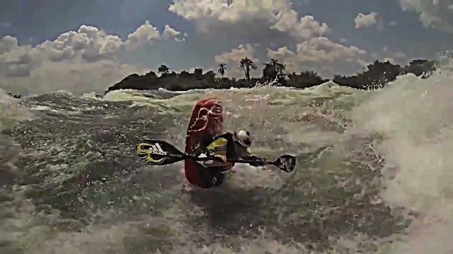 Big Wave Kayak on the White Nile Uganda