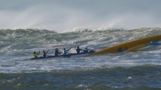 Carnage at the Na Wahine O Ke Kai Paddle Out 2012