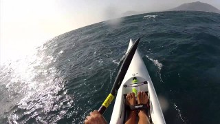 Surfski Downwind Run from Tarifa, Spain