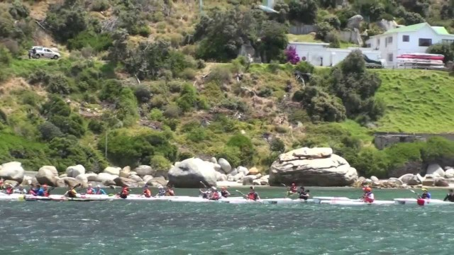Millers Run Surfski Downwind Action Vodacom