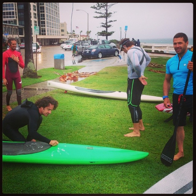 Rob Machado, Brian Szymanski, Belhar Diaz, Greg Closier. That's my the 14' NCP in the background that got blown away.