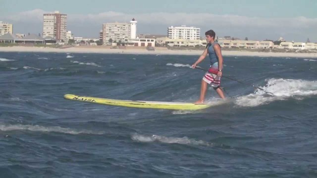 Cape Town SUP Downwind Action 2014