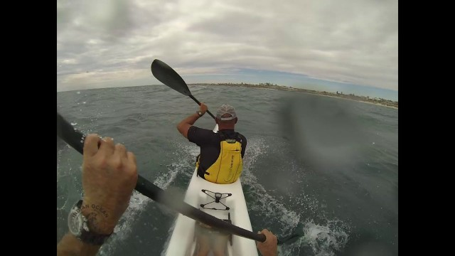 Killer surfski downwind training session in West Oz