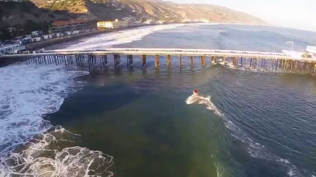[SURF] Laird Hamilton Shoots The Malibu Pier Drone Footage