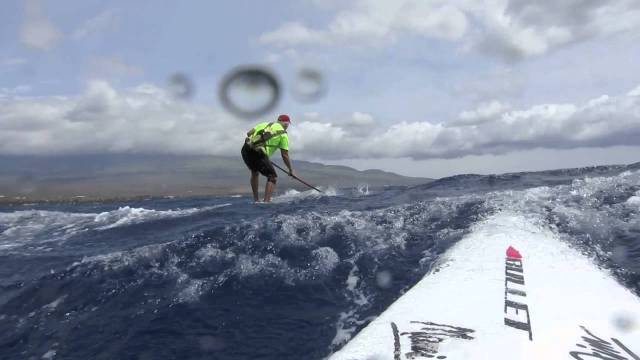 Pono Bill and Larry going downwind off Maalaea Bay Maui
