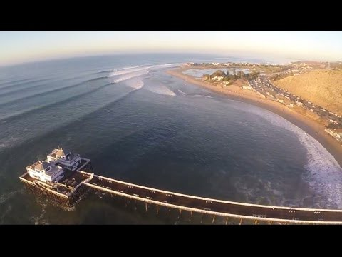 Big Wednesday Surfing in Malibu.  Insane Hurricane Marie swell hits north Los Angeles