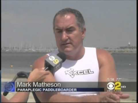 CBS 2 L.A. reports on Easter Seals Paddleboard Donation