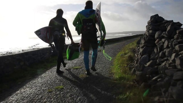 Hard Learning – Kite Surfing Ireland Winter 2013
