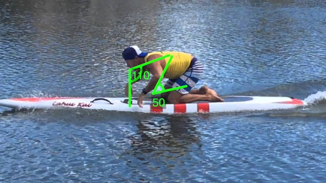 Prone board paddling technique