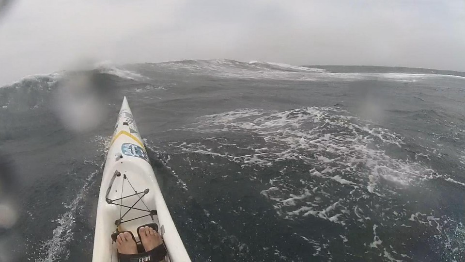 Fastest Surfski Run – wild, and windy downwind