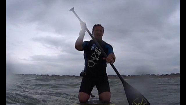 A fun bit of downwind training and into wind slogging