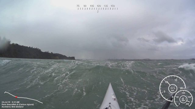Auckland Surfski Downwind – On the roller
