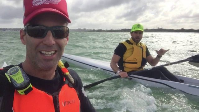 Auckland's Waitemata Harbour Downwind Surfski Paddling
