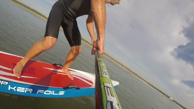 Flying high on the SUP Foil!