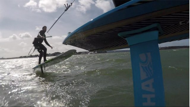 Foil SUP toe session