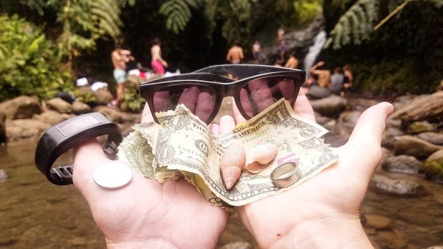 Found Money and Jewelry While Freediving at Waterfall in Hawaii!