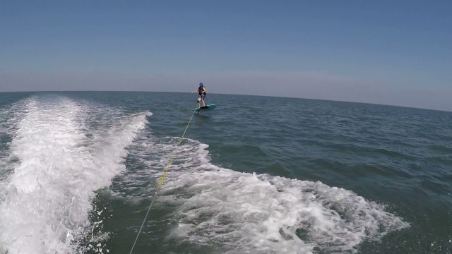 Learning to SUP foil in South Padre 2
