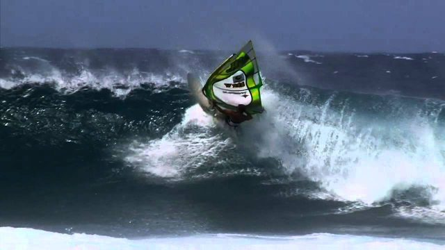 Maui Winter Windsurfing Action