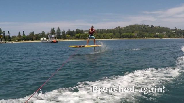 Naish Malolo – Learning to SUP foil behind the boat