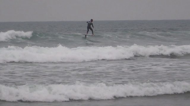 Practicing Go Foil surfing/Sup tomo