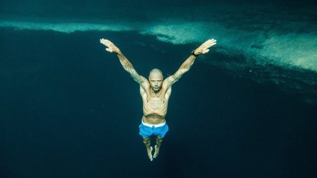 Stig Pryds -deepest P.O.V. freedive in Dean's Blue Hole