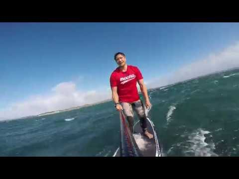 SUP Downwind – Red Beach to Army Bay (25-30 knot WSW)