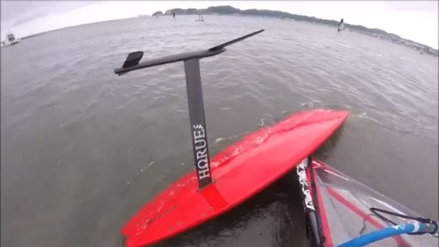 Test run of the Wind-SUP-Foil.