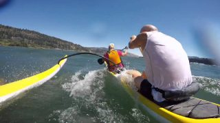 The Gorge downwind outrigger