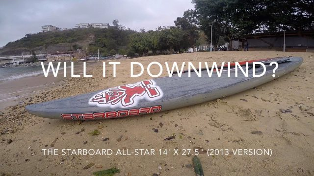 Will it downwind? Starboard All-Star 14′ x 27.5″ SUP