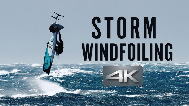 Storm Windfoiling | Foil windsurfing with 50 knots wind