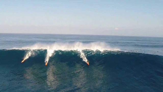 PEAHI SURFING THROUGH THE EYES OF A DRONE 1-19-2014 (HD)