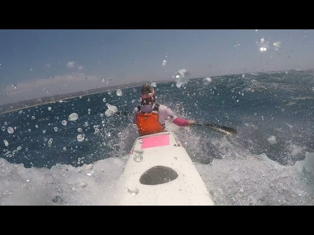 Downwind – Durban to Umhlanga – Gusting at 32 Knots – Carbonology Zest